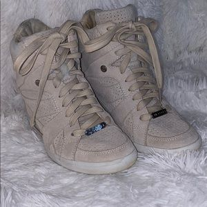 COACH SUEDE WEDGE SNEAKERS